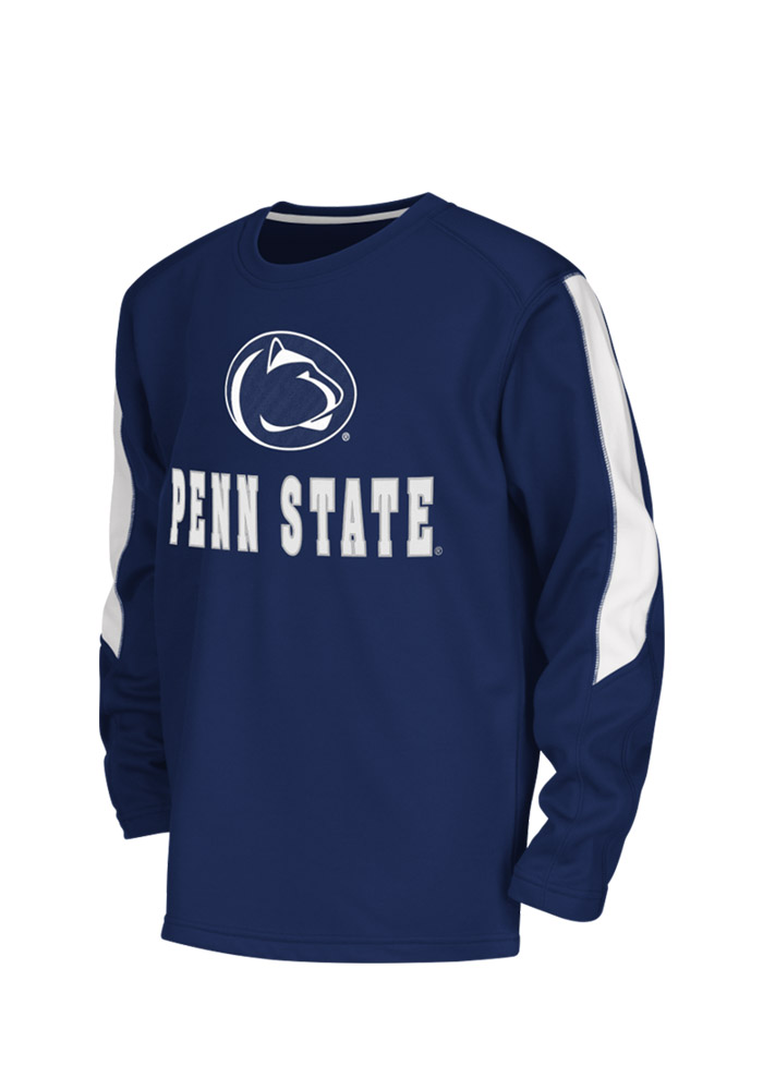 Colosseum Penn State Nittany Lions Youth Navy Blue Chopblock Long Sleeve Crew Sweatshirt - Image 1