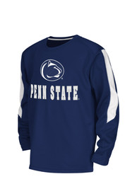 Colosseum Penn State Nittany Lions Youth Navy Blue Chopblock Crew Sweatshirt