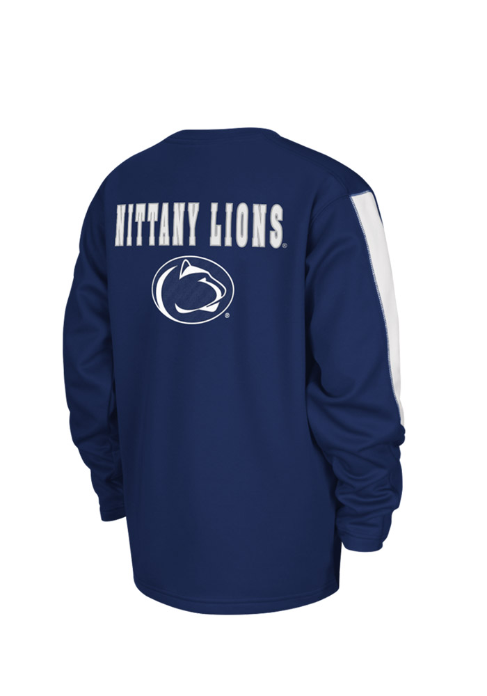 Colosseum Penn State Nittany Lions Youth Navy Blue Chopblock Long Sleeve Crew Sweatshirt - Image 2