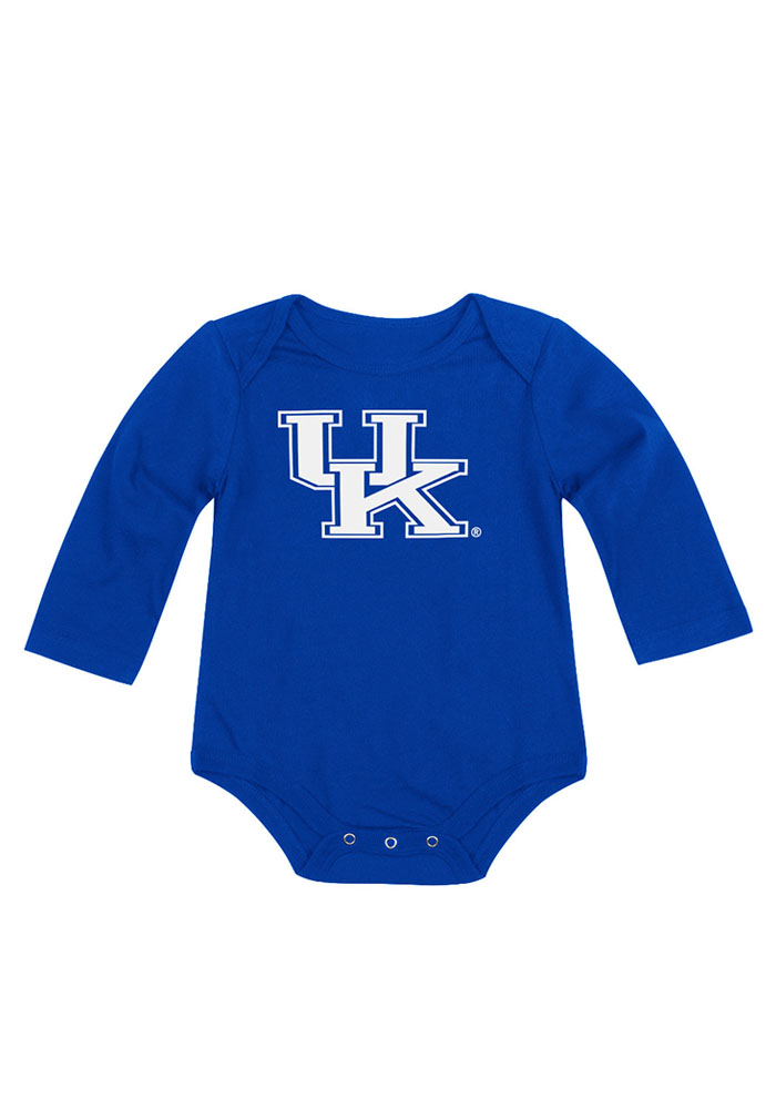 Colosseum Kentucky Wildcats Baby Blue Big Logo Long Sleeve Creeper - Image 1