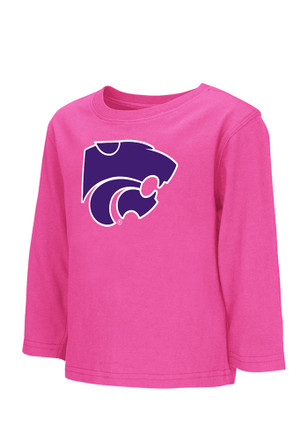 Colosseum K-State Wildcats Toddler Girls Pink Arch Mascot T Shirt