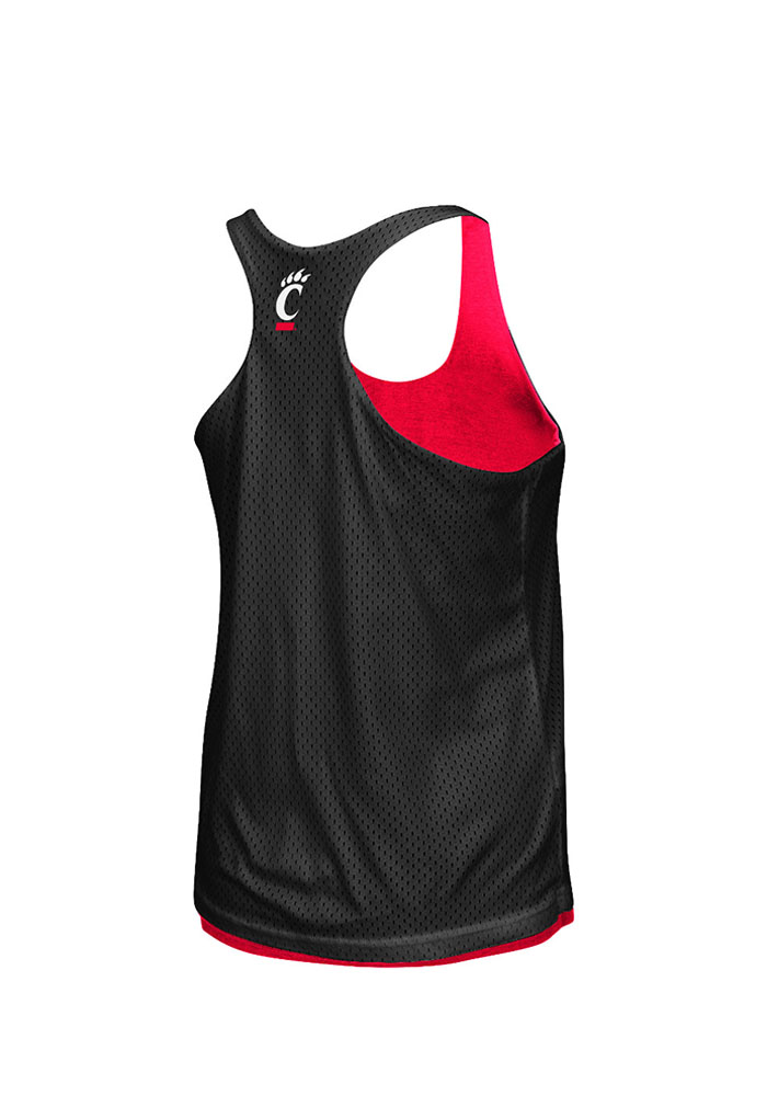 Colosseum Cincinnati Bearcats Juniors Red Triple Crown Tank Top - Image 2