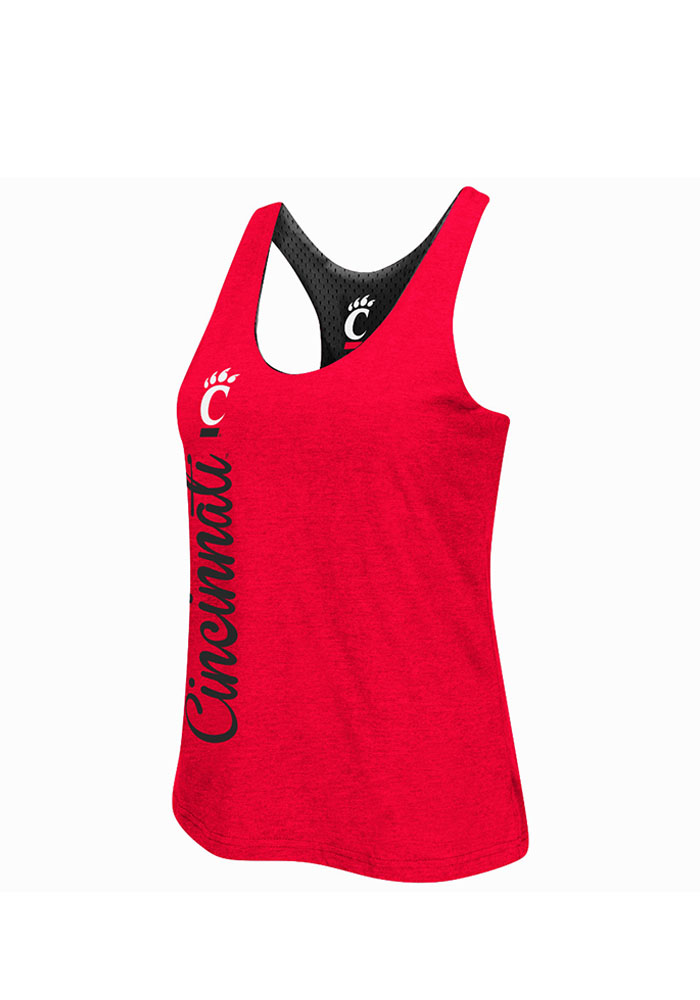 Colosseum Cincinnati Bearcats Juniors Red Triple Crown Tank Top - Image 3