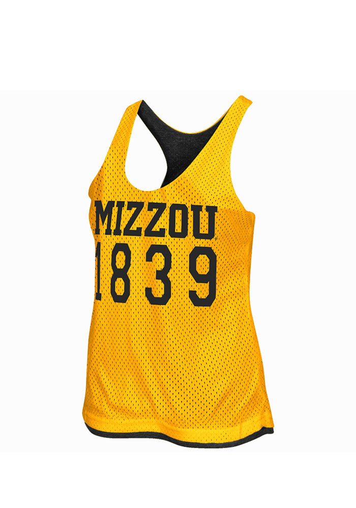 Colosseum Missouri Tigers Juniors Black Triple Crown Tank Top - Image 1