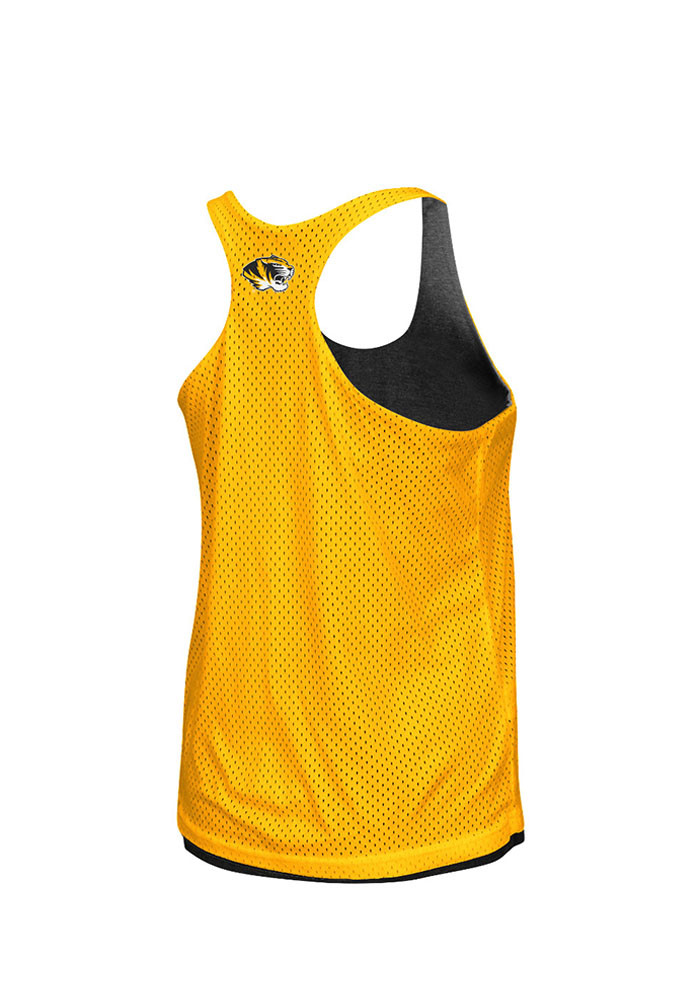 Colosseum Missouri Tigers Juniors Black Triple Crown Tank Top - Image 2