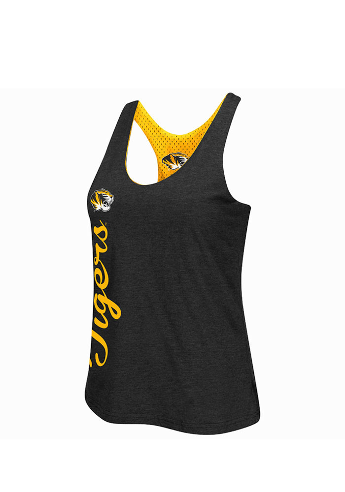 Colosseum Missouri Tigers Juniors Black Triple Crown Tank Top - Image 3