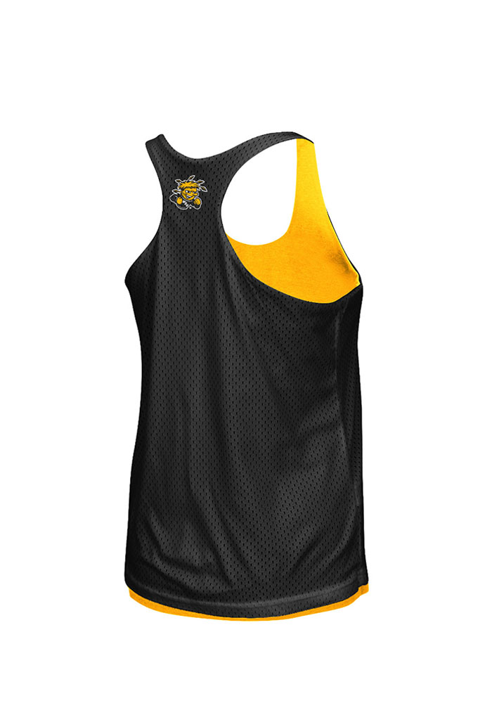 Colosseum Wichita State Shockers Juniors Gold Triple Crown Tank Top - Image 2