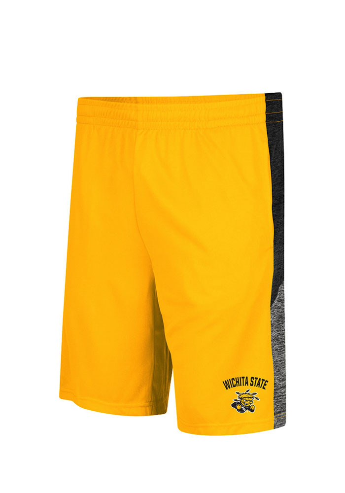 Colosseum Wichita State Shockers Mens Gold Friction Shorts - Image 1
