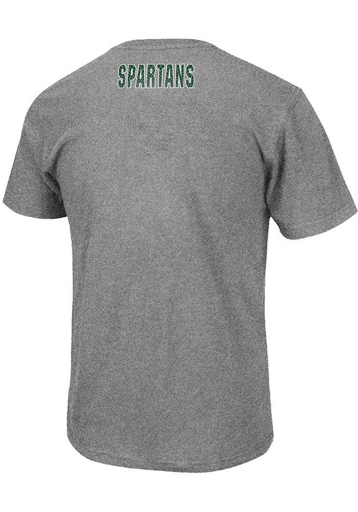 Colosseum Michigan State Spartans Charcoal Crosscut Short Sleeve T Shirt - Image 2