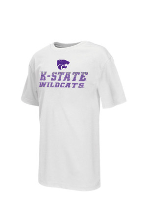 Colosseum K-State Wildcats Kids White Pixel T-Shirt