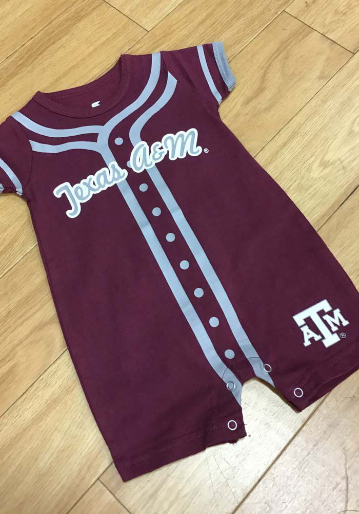 Texas A&M Aggies Baby Maroon Short Sleeve One Piece - Image 1