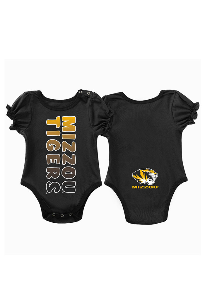 Colosseum Missouri Tigers Baby Black Sunset Short Sleeve Creeper - Image 1