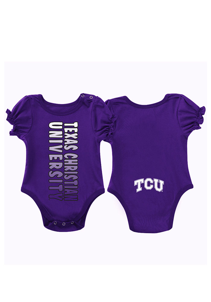 Colosseum TCU Horned Frogs Baby Purple Sunset Short Sleeve Creeper - Image 1