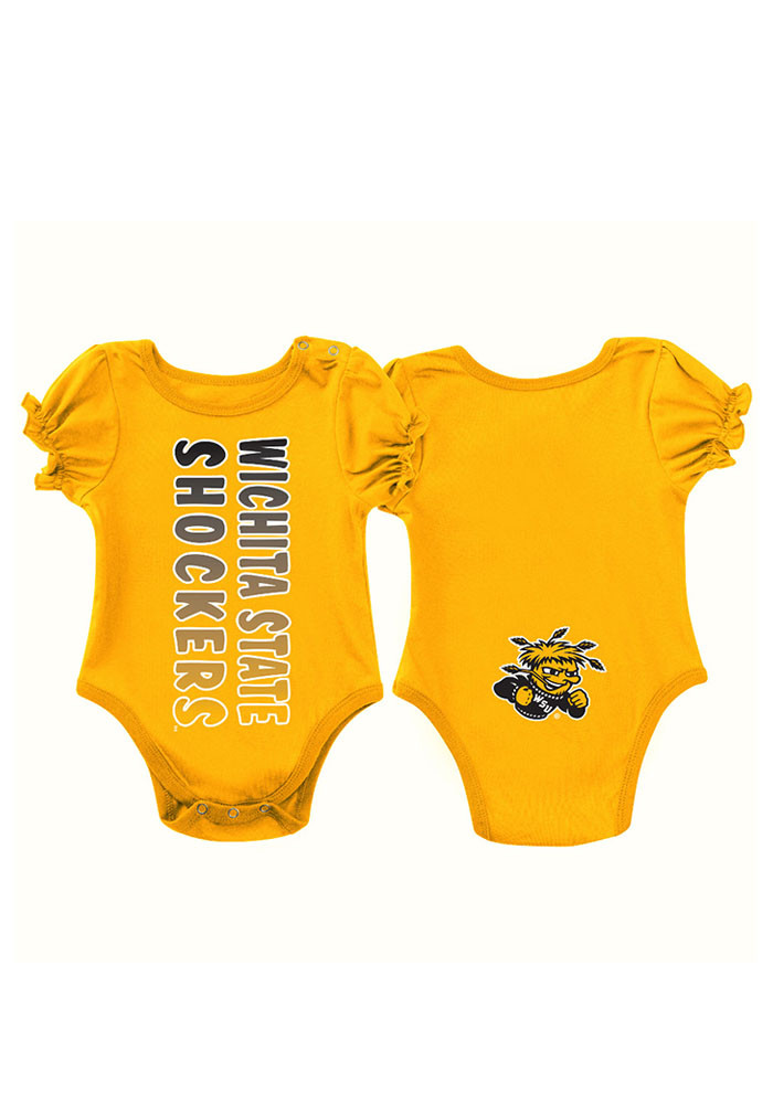 Colosseum Wichita State Shockers Baby Gold Sunset Short Sleeve Creeper - Image 1