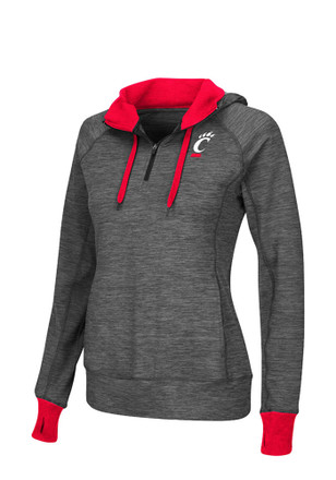 Colosseum Cincinnati Womens Double Back Grey 1/4 Zip Performance Pullover