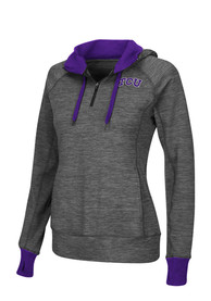 TCU Horned Frogs Womens Colosseum Double Back 1/4 Zip - Grey