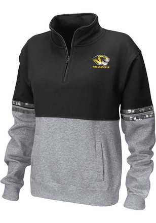 Colosseum Missouri Tigers Womens Rudy Black 1/4 Zip Pullover