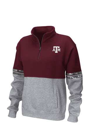 Colosseum Texas A&M Aggies Womens Rudy Maroon 1/4 Zip Pullover