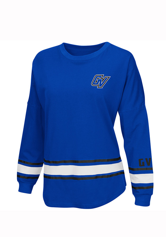 Colosseum Grand Valley State Lakers Womens Blue All Around LS Tee - Image 1