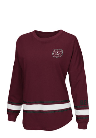 Colosseum Mo State Womens All Around Maroon LS Tee