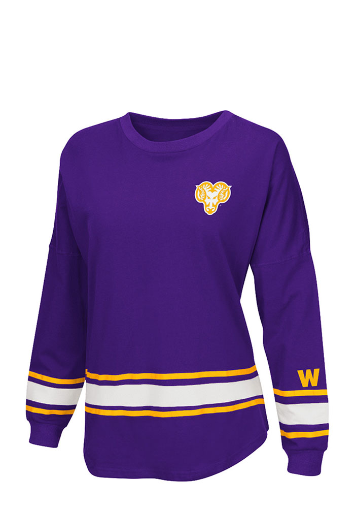 Colosseum West Chester Golden Rams Womens Purple All Around LS Tee, Purple, 100% COTTON, Size XL