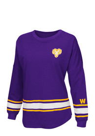 Colosseum West Chester Golden Rams Womens All Around Purple LS Tee