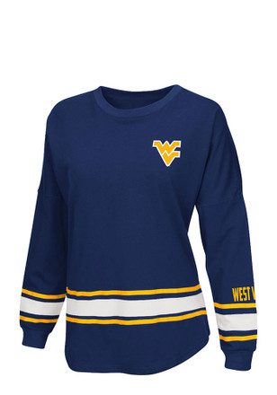 Colosseum West Virginia Mountaineers Womens All Around Navy Blue LS Tee