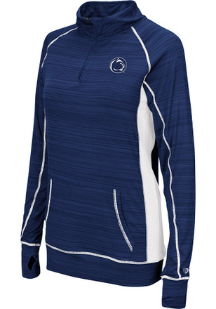 Colosseum Penn State Womens Apothecary Navy Blue 1/4 Zip Performance Pullover