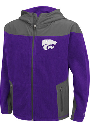 Colosseum K-State Wildcats Youth Purple Corded Light Weight Jacket