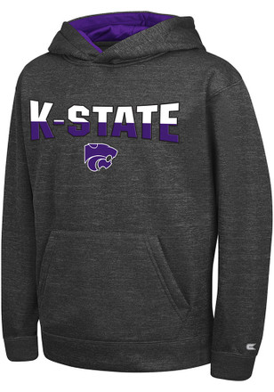 Colosseum K-State Wildcats Kids Grey Lithium Hooded Sweatshirt