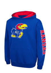 Colosseum KU Jayhawks Kids Blue Zone Hooded Sweatshirt