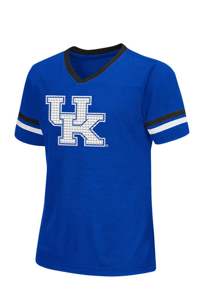 Colosseum Kentucky Wildcats Girls Blue Titanium Short Sleeve Tee - Image 1