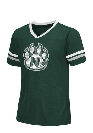 Colosseum Northwest Missouri State Bearcats Girls Green Titanium T-Shirt