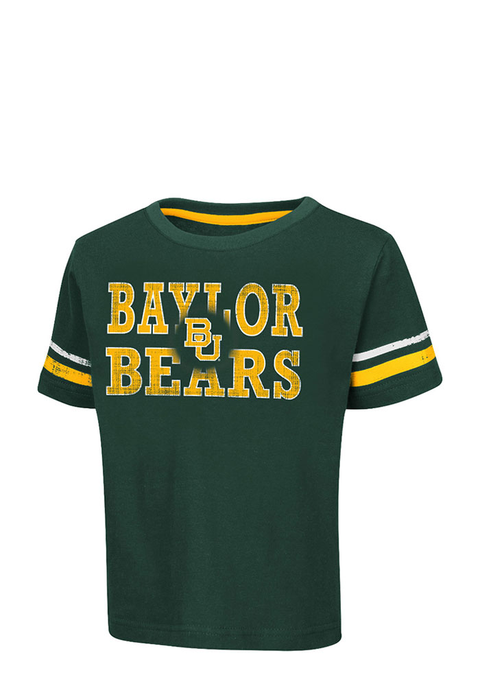 Colosseum Baylor Bears Toddler Green Touch Down Short Sleeve T-Shirt - Image 1