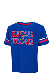 Colosseum KU Jayhawks Toddler Blue Touch Down T-Shirt