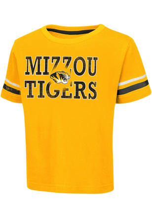 Colosseum Missouri Tigers Toddler Black Touch Down T-Shirt