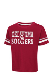 Colosseum Oklahoma Toddler Red Touch Down T-Shirt