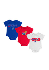 Kansas Jayhawks Baby Blue Triple Play One Piece