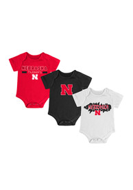 Nebraska Cornhuskers Baby Red Triple Play One Piece