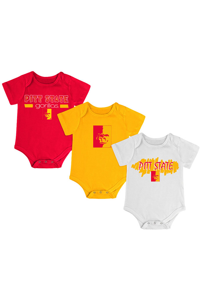 Pitt State Gorillas Baby Red Triple Play One Piece - Image 1