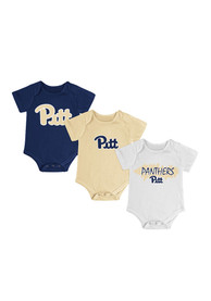 Pitt Panthers Baby Navy Blue Triple Play One Piece