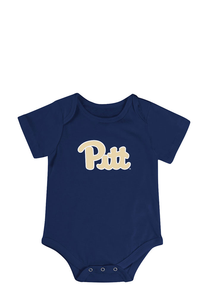 Colosseum Pitt Panthers Baby Navy Blue Triple Play Creeper - Image 2
