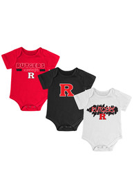 Rutgers Scarlet Knights Baby Red Triple Play One Piece