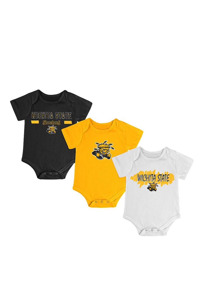 Colosseum Wichita State Shockers Baby Gold Triple Play Creeper - Image 1