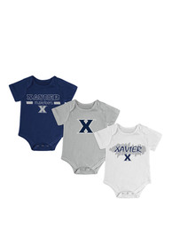 Xavier Musketeers Baby Navy Blue Triple Play One Piece