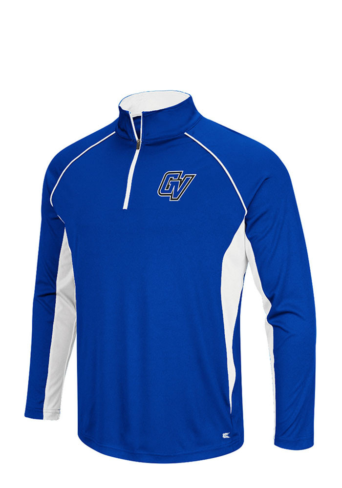 Colosseum Grand Valley State Lakers Mens Blue Airstream Big and Tall 1/4 Zip Pullover - Image 1