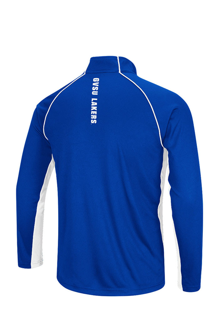 Colosseum Grand Valley State Lakers Mens Blue Airstream Big and Tall 1/4 Zip Pullover - Image 2