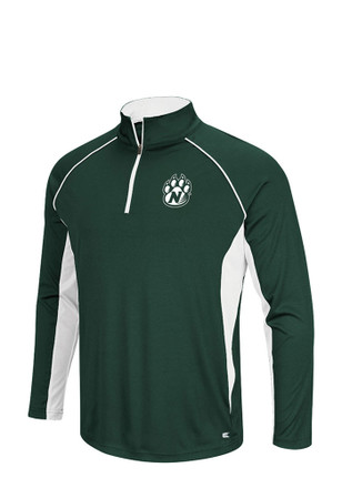 Colosseum Northwest Missouri State Bearcats Mens 1/4 Zip Pullover - Green