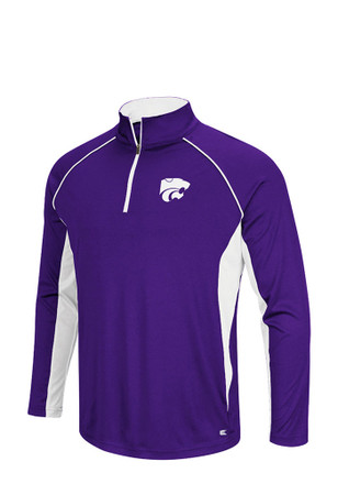 Colosseum K-State Wildcats Mens Airstream 1/4 Zip Pullover - Purple