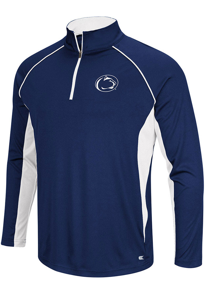 Colosseum Penn State Nittany Lions Mens Navy Blue Airstream Big and Tall 1/4 Zip Pullover - Image 1